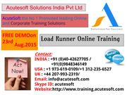 LOAD RUNNER Online Training by AcuteSoft with 10  years SMEs.